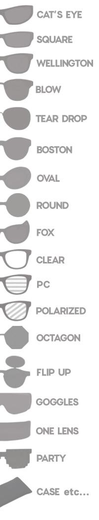 サングラスDO THE POGO サングラスを形から選ぶ カテゴリ