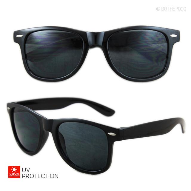 24b38e0fd8efab ウェリントンサングラス ブラック スモークレンズ サングラス 黒 UV ...